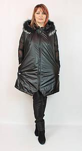 Турецкая теплая женская жилетка с капюшоном, большие размеры 58-64