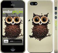 """Чехол на iPhone 5s Сова из кофе """"777c-21"""""""