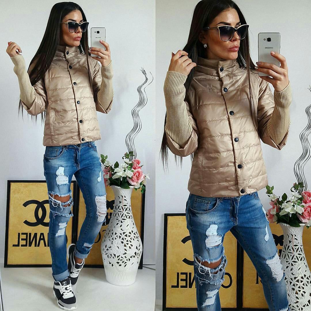 Куртка женская,  205, цвет темно-бежевый