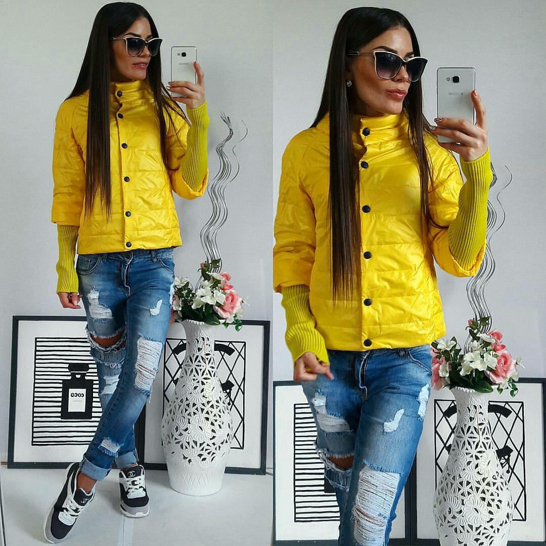 Куртка женская, 205, цвет желтый