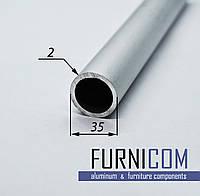 Труба алюминиевая круглая 35х2 / б.п.