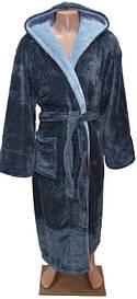 Махровый халат с капюшоном для подростка 8-10 лет