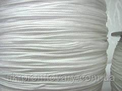 Шнур декоративний 2,5 мм, білий, чорний шнур 2,5 мм. Оптом дешевше