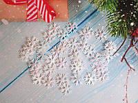 """Новогодний декор,  """"СНЕЖИНКА"""", цвет белый, 17х17 мм., 1 грамм (~ 70 шт)"""