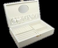 Изысканная шкатулка для украшений 25х15.5х6 см (экокожа)
