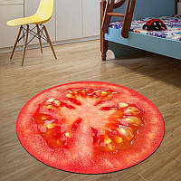 Коврик для дома 3D безворсовый 120 см Красный (1002689-Red-1)