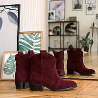 Женские замшевые ботинки на невысоком каблуке Возможен отшив в других цветах