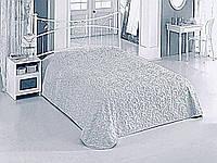Плед ажурный узор 220*240 см, серый