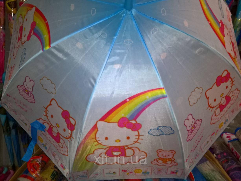Детский зонт трость Хеллоу Китти