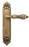 Ручка дверная на планке WC Fimet 147 Flora матовая бронза (Италия)