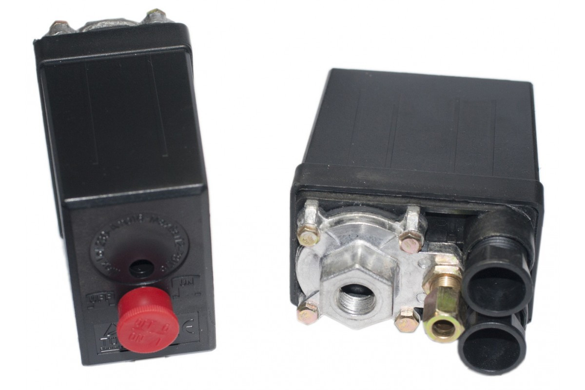 Автоматика к компрессору 1 выход 220в Iron (контрольно-распределительный блок компрессора-прессостата)