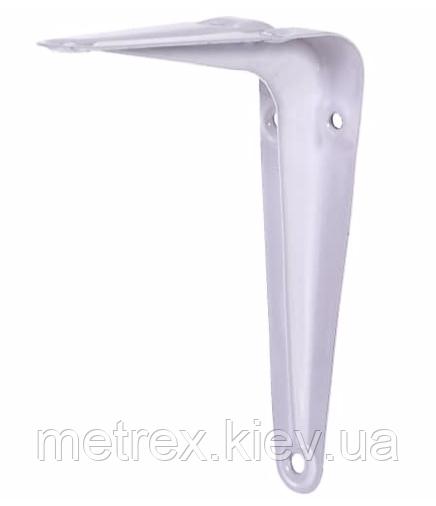 Кронштейн L-уголок для крепления полок 100х125 мм. белый