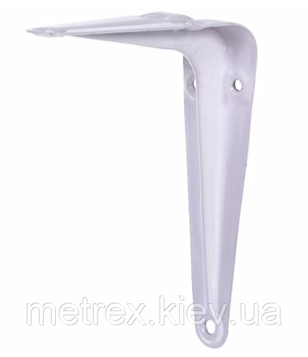 Кронштейн L-уголок для крепления полок 125х150 мм. белый