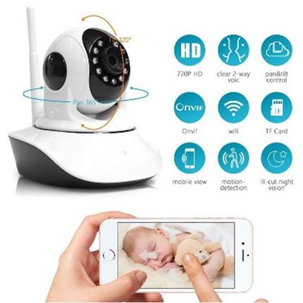 IP камера видеонаблюдения WIFI Smart NET camera Q6, Web камера онлайн wi-fi с записью, фото 2
