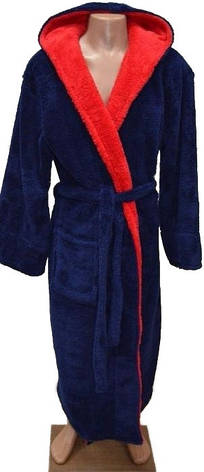 Махровый халат с капюшоном для мальчика 4 -6 лет, фото 2