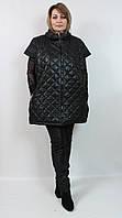 Турецкая теплая женская жилетка больших размеров 50-66