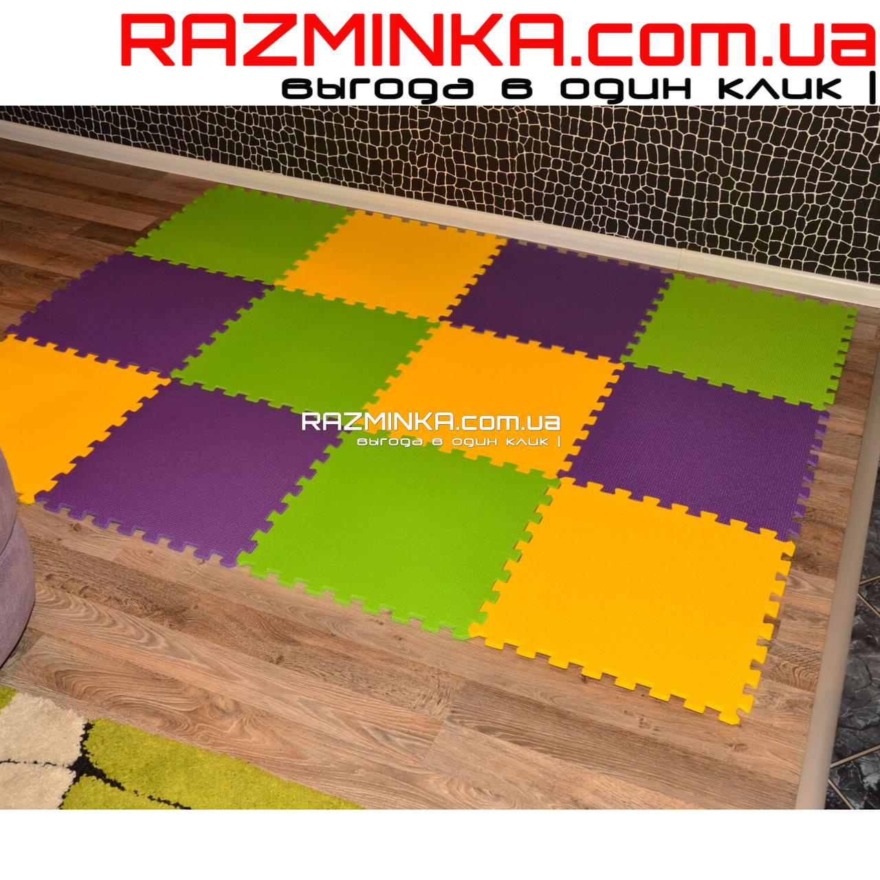 Напольный коврик-пазл для детей 500х500х10мм