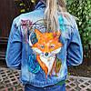Ручная роспись Вашей джинсовой куртки на заказ (Цена без стоимости куртки)
