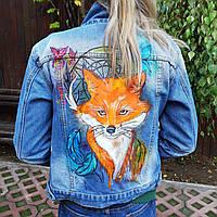 Ручная роспись Вашей джинсовой куртки на заказ (Цена без стоимости куртки), фото 1