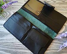 Гаманець жіночий зелена вишиванка, фото 3