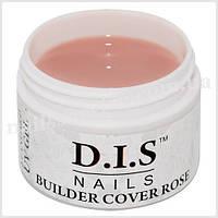 Гель камуфлирующий DIS Builder Cover Rose (средней вязкости,телесный розовый) 60 г.