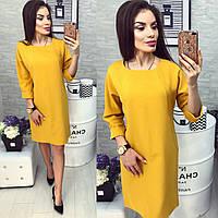 Платье женское, модель 772 , горчичного цвета, фото 1