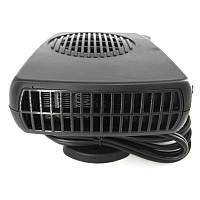 Обогреватель с вентилятором 2 в 1 от прикуривателя авто Черный (1001553)