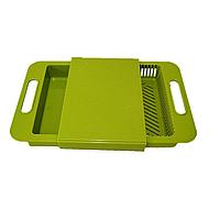 Разделочная доска на мойку для кухни Зеленая (1002123-LightGreen-0)