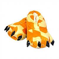 Тапочки кигуруми Лапы, тапки домашние. оранжевый