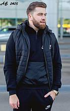 Мужской зимний костюм тройка с жилеткой