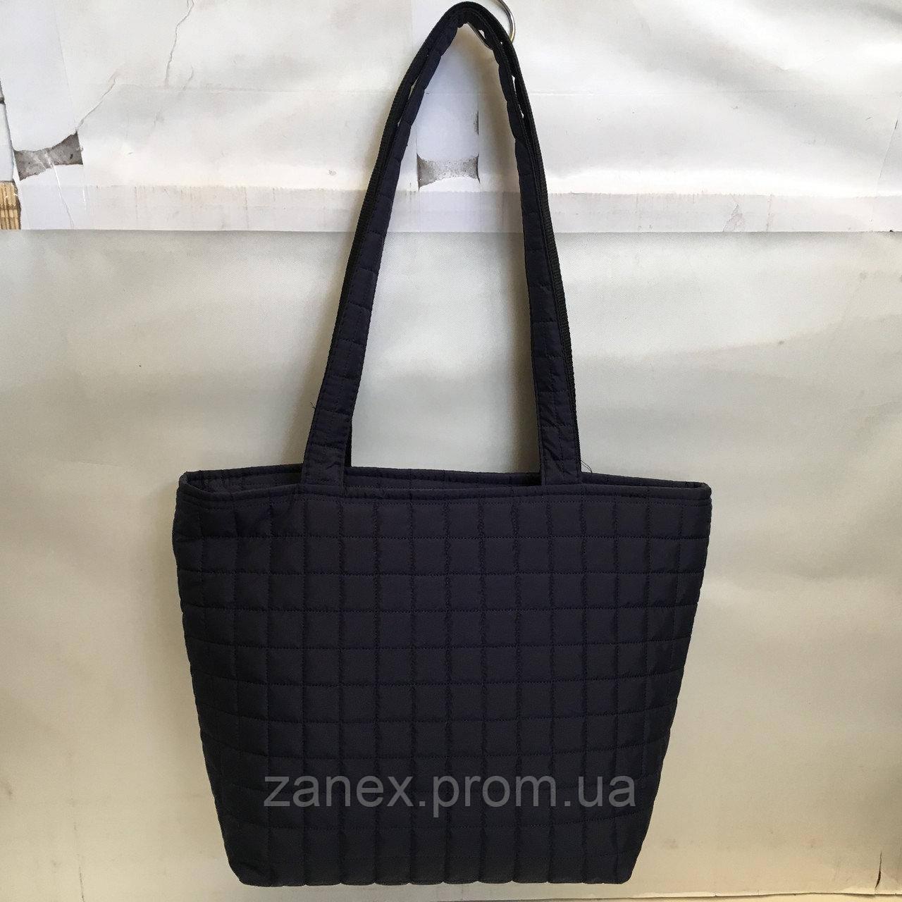 Женская сумка стеганая (темно-синяя)