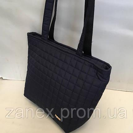 Женская сумка стеганая (темно-синяя), фото 2