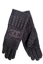 Перчатки теплые женские серые 023А