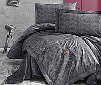 Комплект постельного белья First Choice Ranforce Deluxe евро JEANS Gri