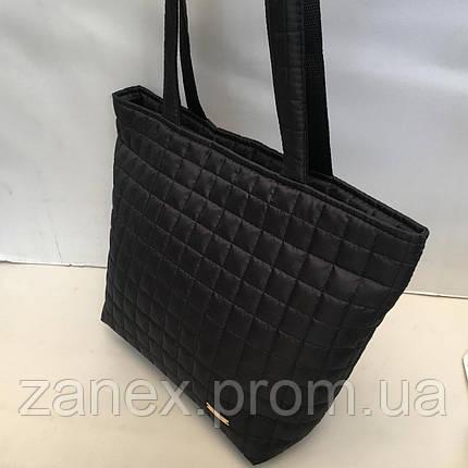 Женская сумка стеганая (черная), фото 2