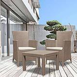 Комплект меблів для саду зі штучного ротангу ROSARIO BALCONY SET капучіно ( Allibert ), фото 5