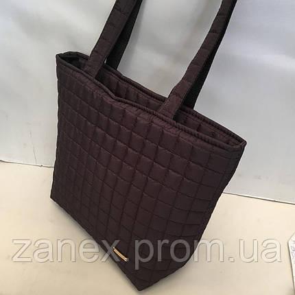 Женская сумка стеганая (коричневая), фото 2