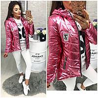 Куртка-парка, Новинка, утепленная модель 210, цвет розовый
