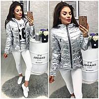 Куртка-парка, Новинка, утепленная модель 210, цвет серебро