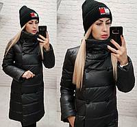 Куртка пальто демисезон (арт. 1002) черная