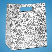 Пакет для свадебного каравая или сладостей в серебристых тонах