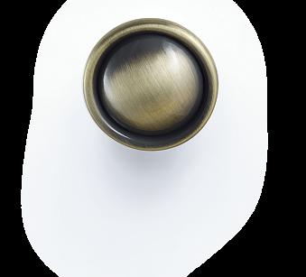 Ручка мебельная D-1031-33 SAB блестящая античная бронза