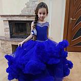 Пышное платье Облачко СИНЕЕ на 4-5, 6-7, 8-9 лет, фото 5