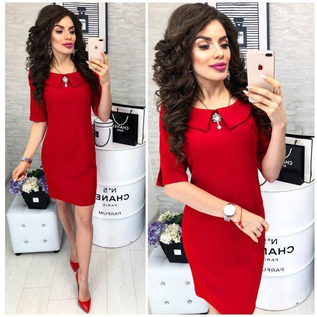 Сукня жіноча, модель 811, колір Червоний
