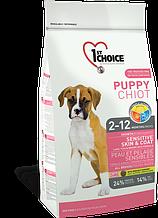 Сухой корм для щенков всех пород с ягненком и океанической рыбой 1st Choice Puppy Sensitive Skin&Coat 6 кг