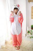 Пижама кигуруми Взрослые Hello Kitty розовый