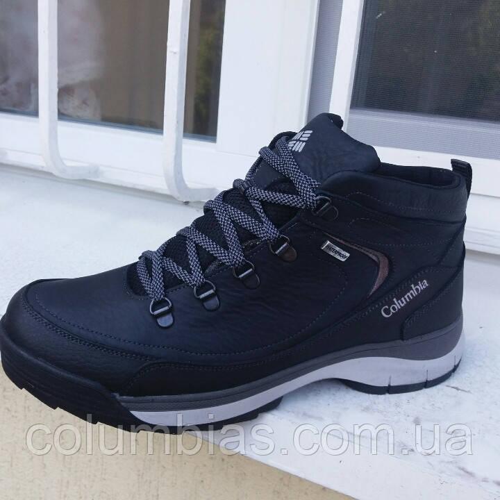 Зимние кожаные мужские ботинки Columbiaа 4047