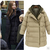 Женская куртка  капюшон вязаный