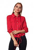 ЖІноча блуза з затяжками внизу ,2 кольори . Р-ри  42-52, фото 1