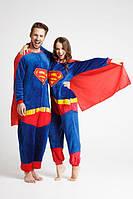 Пижама кигуруми Взрослые  Супермен синий